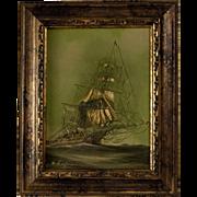 Original Nautical Ship Painting by Renato Marcello Longanesi (Italian, 1931- )