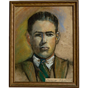 Pastel Portrait by Dewitt Clinton Peters  (1865 - 1948)