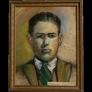 Pastel Portrait by Dewitt Clinton Peters  (1865 - 1948)