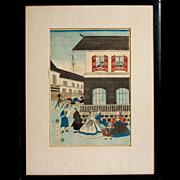 Polychrome Woodblock Print by Utagawa Yoshikazu, Circa 1861