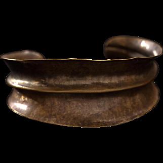 Brutalist Copper Cuff Bracelet, Circa 1970's