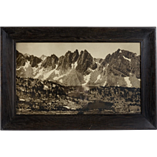 "Rare Original Mural Photograph by François Émile Matthes, ""Kearsarge Pinnacles and Kearsarge Lakes, circa 1925"