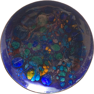 Enamel on Copper Bowl  (c. 1971) by Win Ng