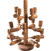 Mind Blowing Vintage 1970's Teak Candelabra