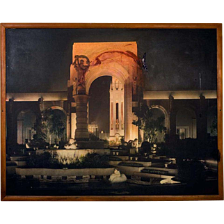 """Large Vintage Display Photograph (c.1935) by Gabriel Moulin """"Treasure Island""""  1939-1940 Golden Gate International Exposition"""