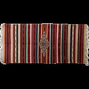Very Large Vintage Saltillo Serape Mexican Blanket/rug, c. 1930's -1940's