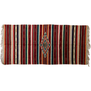 Very Large Vintage Saltillo Serape Mexican Blanket/rug, c. 1930's -1940's