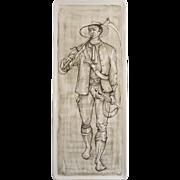 "Mid Century Fornacetti Manner, ""Marostica Alcyone"" Italian Ceramic Wall Plaque,"
