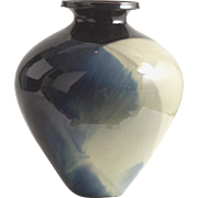 Vintage Flambe Polychrome Ceramic Vase