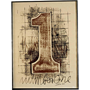 "Signed ""Number One"" Lithograph America Seen Gallery , circa 1977"