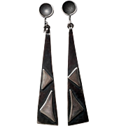 Modernist Mid-Century Sterling Earrings