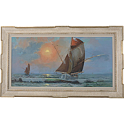 Nautical Ship Painting by Carel Lodewyk Dake, II (1886-1946)