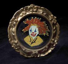 Vintage 1970's Enamel Clown