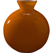 Mid Century Cased Glass Vase