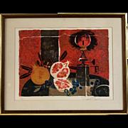 Original Mid Century Silkscreen by Yves Ganne