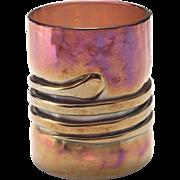 Steven Drake Silver Oxide Art Glass Cup