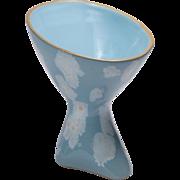 Modernist Ceramic Glazed Pedestal Bowl