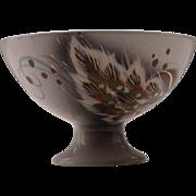 Mid Century Sasha Brastoff Pedestal Bowl