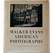 Walker Evans, American Photographs, 2nd Edition, 1962