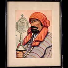 Original Watercolor Guatemalan or Argentinian Artist