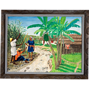Original Painting by Jean Felix DeFournoy (ARFELIX DEFOURNOY) (20th c.) Renowned Haitian Artist