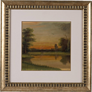 Original Hudson River School Oil Painting