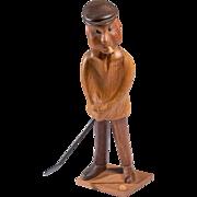 Mid Century Romer Italian Wooden Golfer Wood Carving