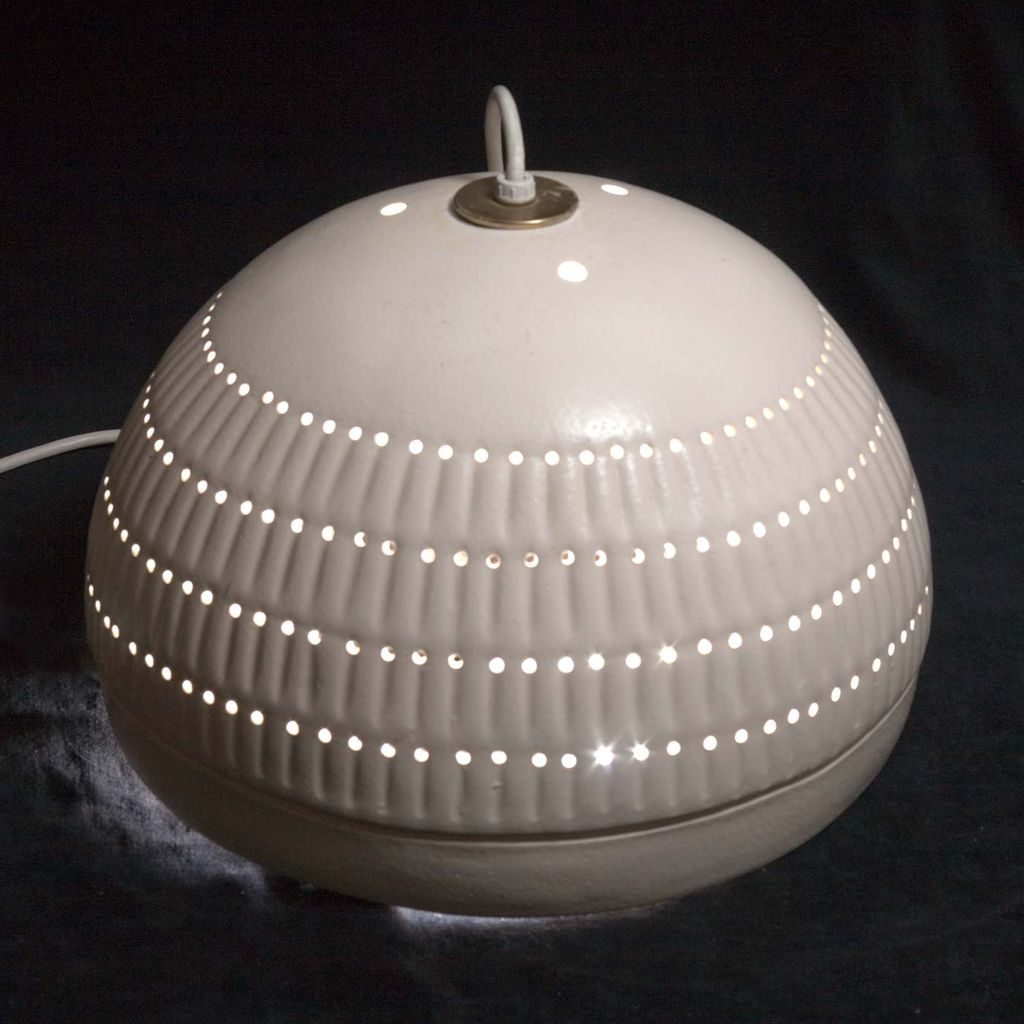 Massive 1980's Modernist Ceramic Hangling Lamp by Southwest American Crafts Inc.