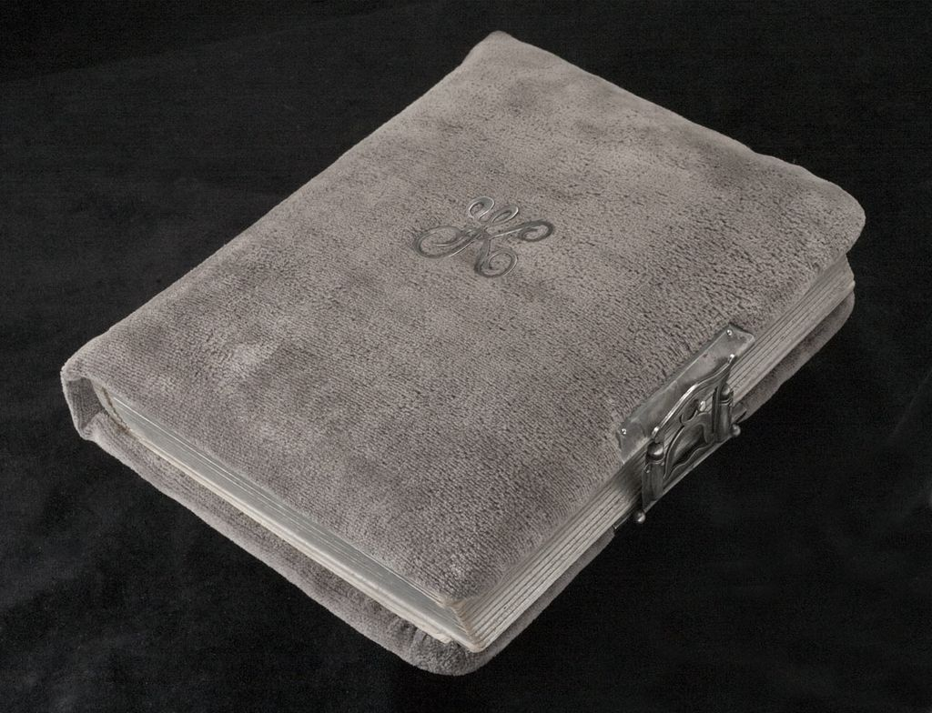 19th Century Victorian Art Nouveaux Velvet and Sterling Photo Album