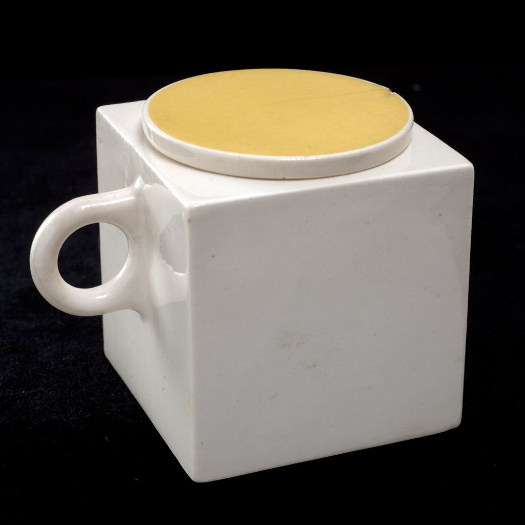 Marek Cecula ceramic covered cup C. 1986