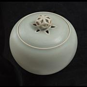 Xavier Duroselle (French, b.1961)  Celadon Porcelain Lidded Bowl
