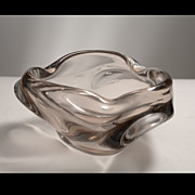 Free Form Sommerso Murano Glass Bowl Circa