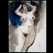 Jack Laycox Original Watercolor, c. 1960's Nude Study