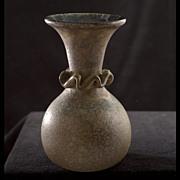Frit Glass Vase by Lafiore,Mallorca Spain circa 1980s.