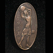 Rare 1915 GirlS PRAA Basketball PIN