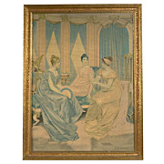 Vintage 1930's Lithograph on Canvas by Frederic Soulacroix (Italian,1858-1933)