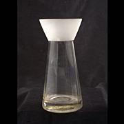 Unusual Vintage Scandinavian Frosted Glass Vase