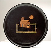 "Vintage Couroc Modernist  ""Back to the Land"" 1970's Platter"