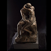 "Vintage Auguste Rodin Sculpture ""The Kiss"" by Grayden c. 1977"