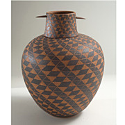 Larry Richmond Southwestern Desert Lidded Vase