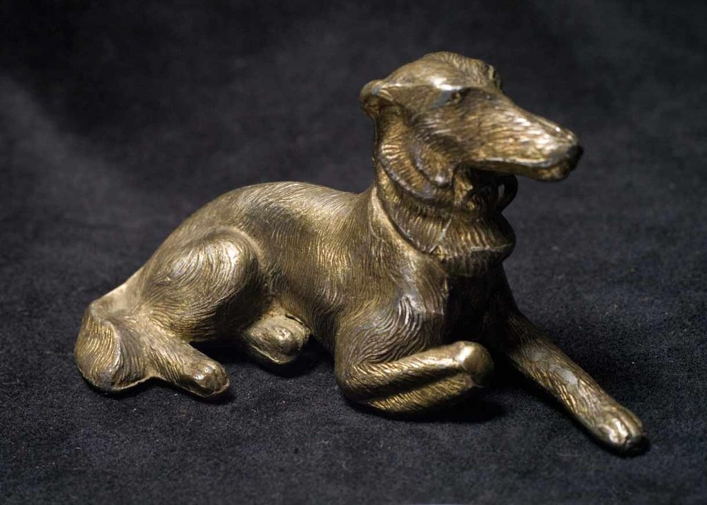 Vintage Cast Metal Borzoi Dog Figurine