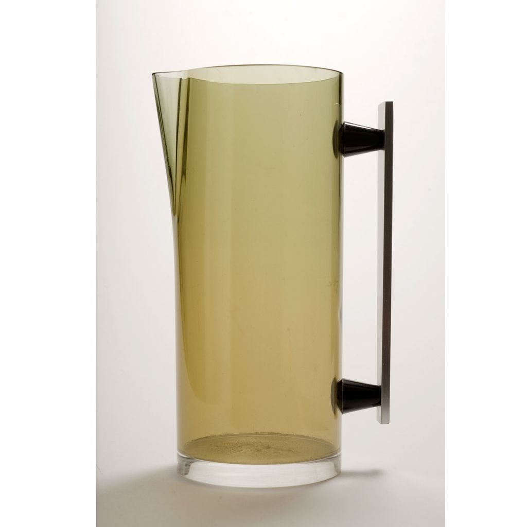 "Vintage Mid Century ""Studio Plastique"" 1960's-70's  Lucite Pitcher with Aluminum Handle"