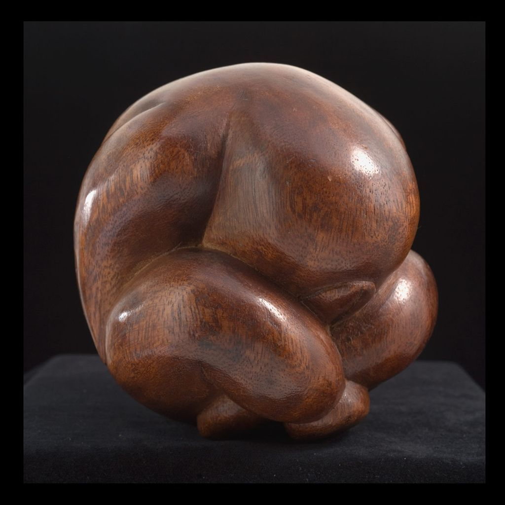 20th Century Modernist Manner Wood Sculpture From