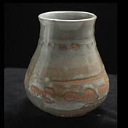 20th Century American Craft Studio Pottery Vase, signed MG