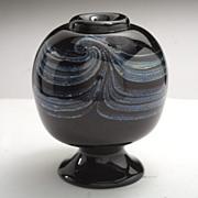 Vintage 1975 Brian Maytum Iridescent  Glass Vase