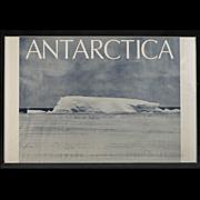 "Rare Vintage Poster ""Antarctica"" by Daniel S. Lang, circa 1975"