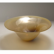 Exceptional Silver Oxide Art Glass Bowl, circa 1982