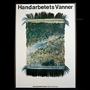 Rare Vintage Poster 1983 Spanga Trycheri AB, Stockholm 1983 Handarbetets Vanner/Riksutstallningar