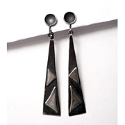 Sensational Mid-Century Modern Sterling Earrings