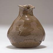 Brutalist Ceramic Vase, signed J. Davies